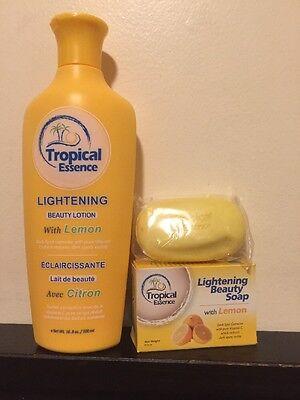 - Tropical Essence Lightening Beauty Lotion with LEMON ❤️❤️FREE SOAP❤️❤️