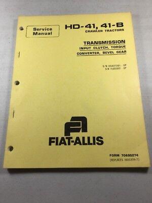Fiat Allis Hd-41 41-b Crawler Tractors Transmission Bevel Service Manual