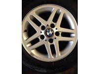 "15"" genuine bmw Alloys Wheels 3 1 Series Vw T5 5x120 e36 e46"