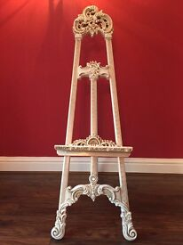 Lovely, luxury wedding easel stand and frame, table planner, menu, photo
