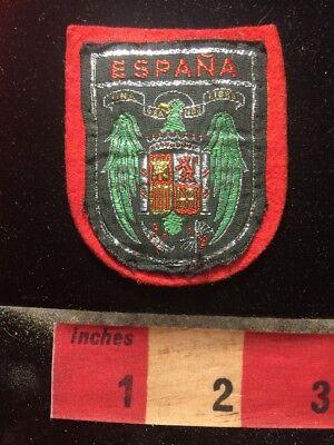 SPAIN WOVEN (Felt Back) TOURIST PATCH EMBLEM ~ ESPANA COAT OF ARMS  66RR