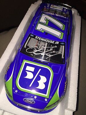 2013  17 Ricky Stenhouse 5Th 3Rd Bank 1 24 Autographed Diecast Signed