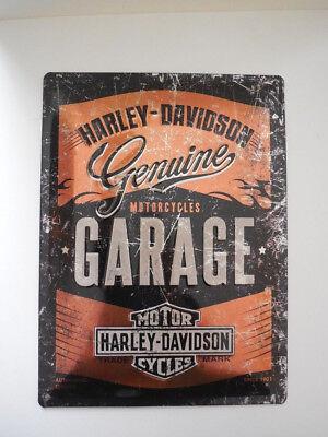 Harley Davidson Sheet Steel Shield 3D B&S Garage Special Edition 30x40cm MP4761