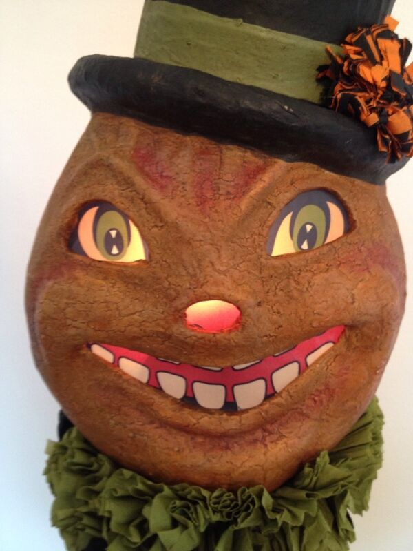 Bethany Lowe Halloween Happy Pumpkin Mask--Large size--retired