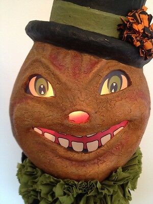 Bethany Lowe Halloween Happy Pumpkin Mask--Large size--retired