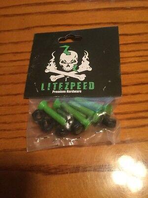 """Litezpeed 1"""" Green Skateboard Hardware"""