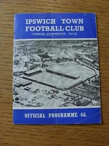 19-09-1964-Ipswich-Town-v-Bolton-Wanderers-Creased-Folded