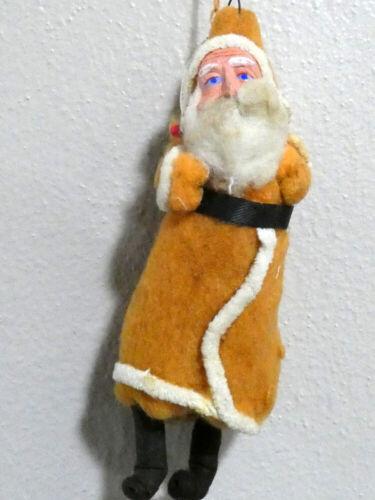 """Vintage Christmas Belsnickle Cotton Batting Santa Claus Ornament 6 1/8"""""""