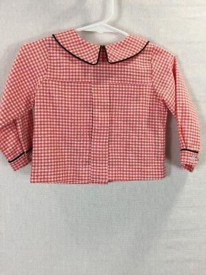 er Pan Collar Kellys Kids Size 12 Months Red Checks 34.00 (Infant Peter Pan)