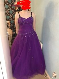 Purple ball gown style prom dress size 14-16