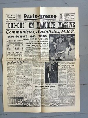 """Vintage French Paper Poster - Newspaper Front Page Headlines 23""""x17"""" Wallpaper"""