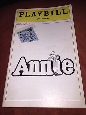 RARE Annie Playbill And Ticket Stub Andrea McArdle 2nd Month 1977 Alvin Theatre