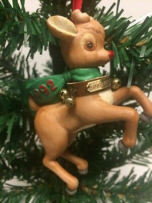 """Rudolph The Red Nose Reindeer "" Robert L May Co. 1992 Christmas Tree Ornament"
