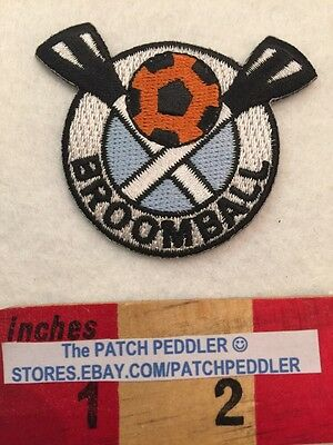 FREE SHIPPING ~ BROOM BALL PATCH ~ BROOMBALL ~ FUNKY UNUSUAL UNIQUE SPORT 59Z2
