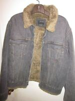 MENS ENERGIE FUR DENIM JEAN JACKET SIZE XL MADE IN ITALY