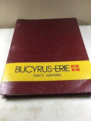 Bucyrus Erie 55c Crane Parts Catalog Manual Original