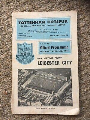 Tottenham H V Leicester City Programme 24th April 1965