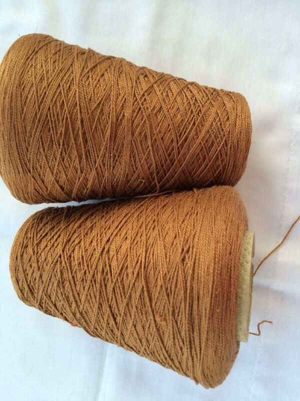 Silk City Fibers,100% Perl  Cotton, made in France.color Lt.Brown wght 1lb 12oz.