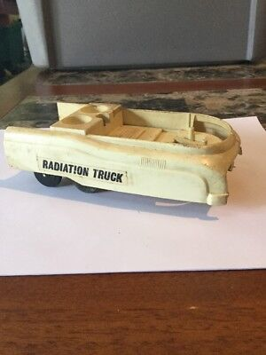 Vintage Plastic Toy Radiation Truck Space Vehicle Dump Bed Made In Japan
