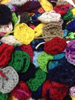 100 Granny Square CENTERS for Afghan Solid And Multi Colors Lot Number One