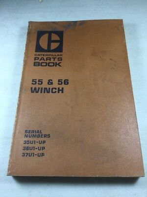 Caterpillar 55 And 56 Winch Parts Book