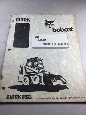 Bobcat 908 Backhoe Owners Manual