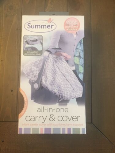 Summer Infant 2in1 Carry & Cover Infant Car Seat Cover, Clov