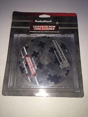 New!! Radioshack CD/DVD/CD-ROM Lens cleaner 42-552 Rom Lens Cleaner