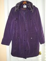 Winter Coat with Removable Hood, Colour Purple- Ladies (NEW)