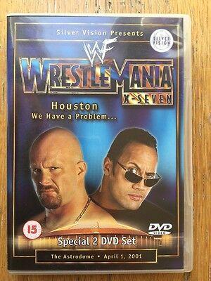 WWE Wrestlemania 17 X-Seven DVD (2 Disc Set) Stone Cold vs The Rock WWF