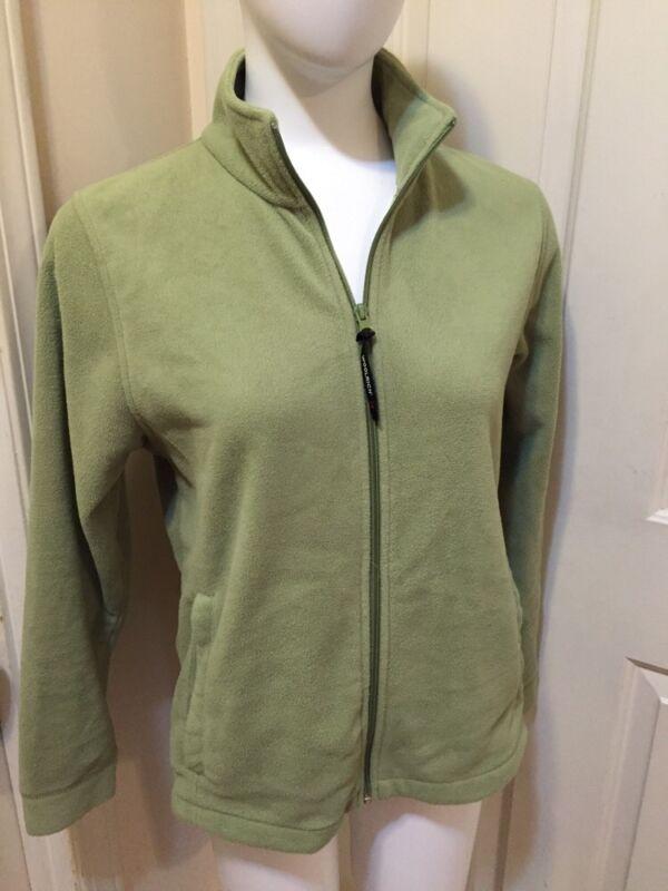 WOOLRICH light Green Full Zip Fleece Jacket_ Misses M