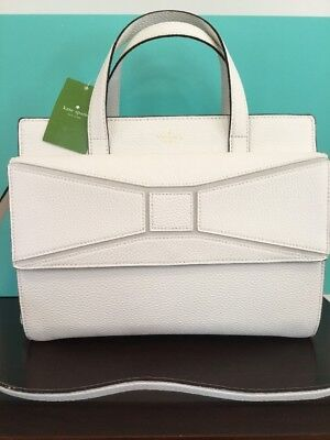 KATE SPADE NWT CHANTAL BRIDGE PLACE FRENCH LEATHER TOTE CREAM LARGE SATCHEL BAG