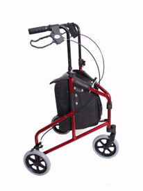 LIGHTWEIGHT FOLDING 3 WHEEL ROLLATOR / TRI WALKER / WALKING FRAME