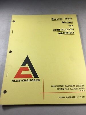 Allis Chalmers Service Tools Manual For Construction Machinery