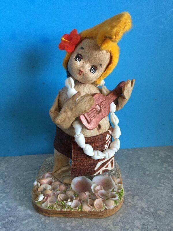 Vintage Hawaiian TAPA MENEHUNE Doll by Lani Lee 1960