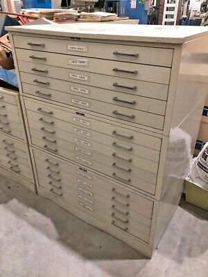 Mayline Blueprint Flat Material 5-drawer Metal File Cabinet