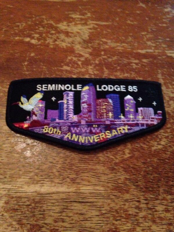 Seminole Lodge #85 80th Anniversary Downtown Tampa Night Scene Flap 60E-K6