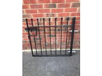 Wrought iron gate, posts and railing sections