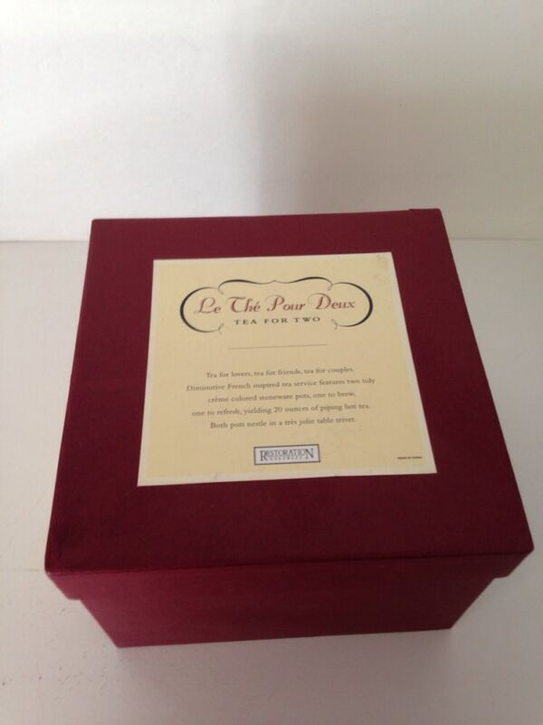 Restoration Hardware 'Tea for Two' Tea Set NIB