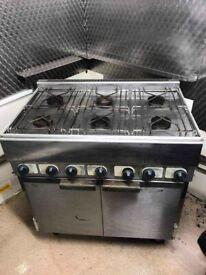 Lincat SLR9 6 Burner Gas Oven