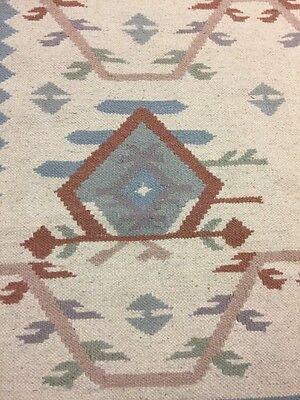Vintage Large Hand Woven Wool Navajo Tribal Tree Pattern Rug 72 X 48 ~ Estate