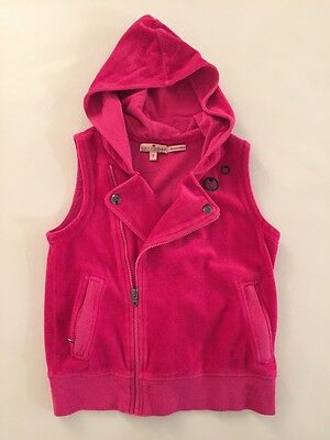Juicy Couture Girls Velour Velvet Track Best  $98 Size 7 Pink Motorcycle