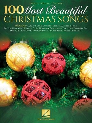 100 Most Beautiful Christmas Songs Sheet Music Piano Vocal Guitar NEW 000237285