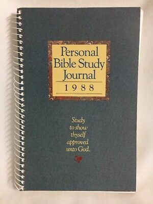 Personal Bible Study Journal, 1988[Spiral-bound]