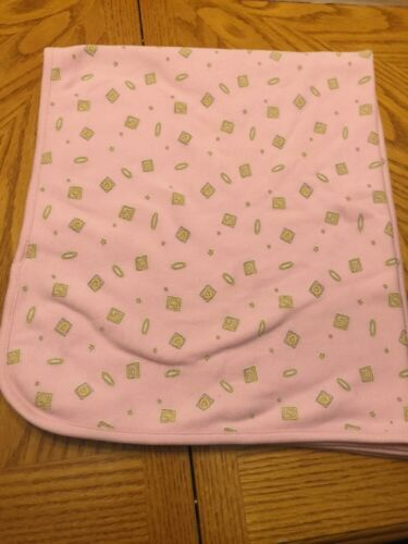 Heaven Leigh Wee Witness Pink Yellow Block Baby Blanket 28 X 28 One Size Used - $23.27