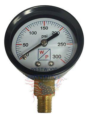 2 0-300 Psi Oil Burner Fuel Pressure Test Gauge For Beckett Danfoss Suntec Pump