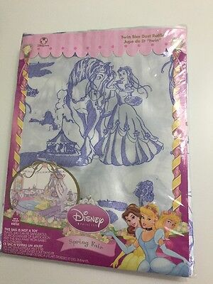 (Disney Princess Bedding Spring Fair Twin Dust Ruffle Bed Skirt Belle Cinderella)