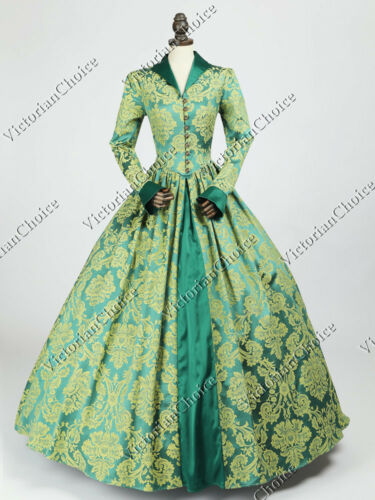 Renaissance Royal Queen Princess Ball Gown Fantasy Dress Halloween Costume 162