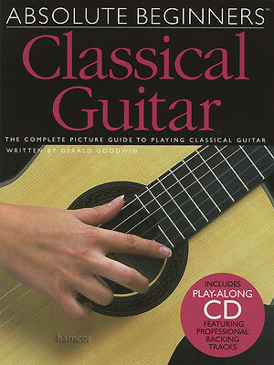 Absolute Beginners Classical Guitar TAB Music Book/CD Learn How to Play Method