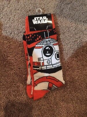 Star Wars BB-8 Socks - Loot Crate Exclusive - Men Sizes 6-12 - NEW FREE SHIPPING